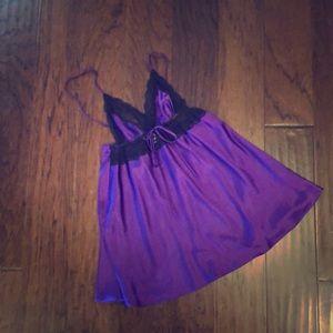 Victoria's Secret Purple Silk Slip